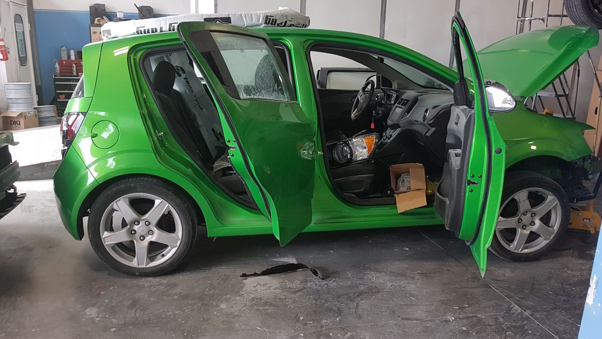 Car For Repair at Quality First Collision Repairs Surrey BC
